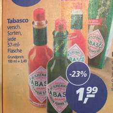 1,99€ Tabasco 57ml ver. Sorten [Real] ab 24.11