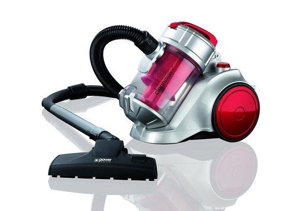 Staubsauger cleanmaxx Zyklon , 850 W Energie Plus, silber / rot Zyklonsauger für 39,99 Euro @Ebay (Generalüberholt)
