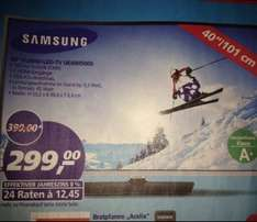 "Samsung 40"" Zoll ab 27.11.2014 bei Real"