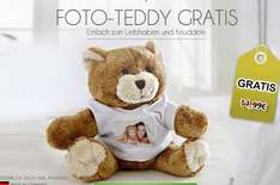 Gratis: Plüsch-Teddy mit eigenem Foto (+4,95€ Versand)