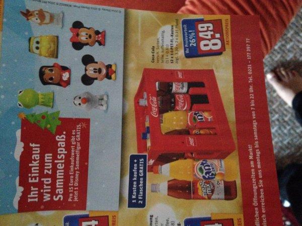 Bei Rewe 2 cola Flaschen gratis bei Kauf 1 Kasten cola
