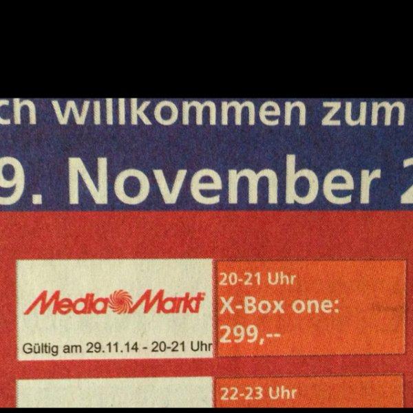 X-Box One im Mediamarkt Baden Baden für 299€ -Idealo 357,65€