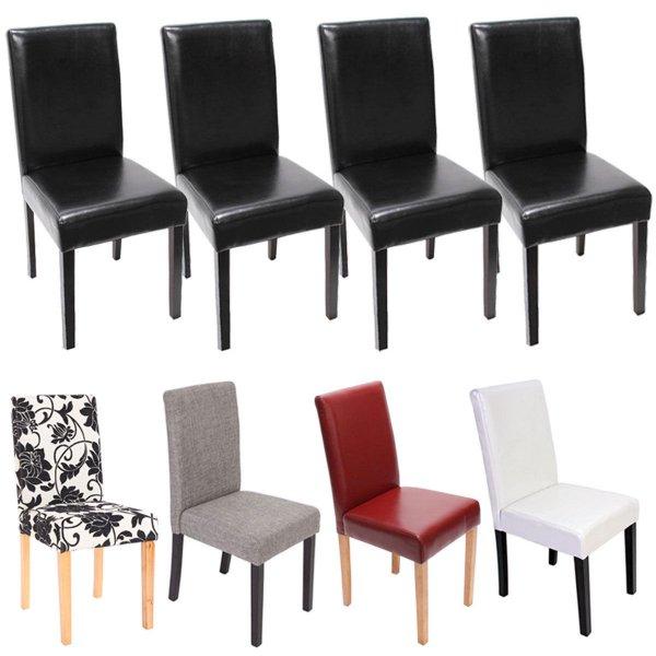 4x Esszimmerstuhl Stuhl Leder oder Textil für 89,99€ @ebay