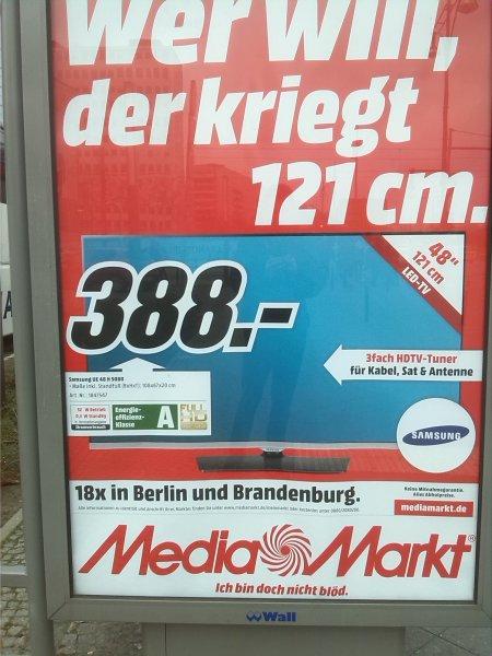 (Lokal Berlin Media Markt) Samsung UE48H5080