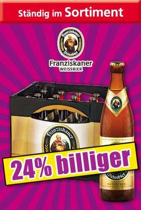 [NORMA] Franziskaner Weißbier / 11,80€ zzgl. Pfand