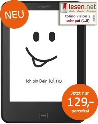 Tolino Vision 2 (eReader) für 129€ und nur 119€ als Neukunde!