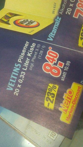 Netto [Supermarkt] Moers, Umgebung evt Bundesweit. Veltins 20x0,33l