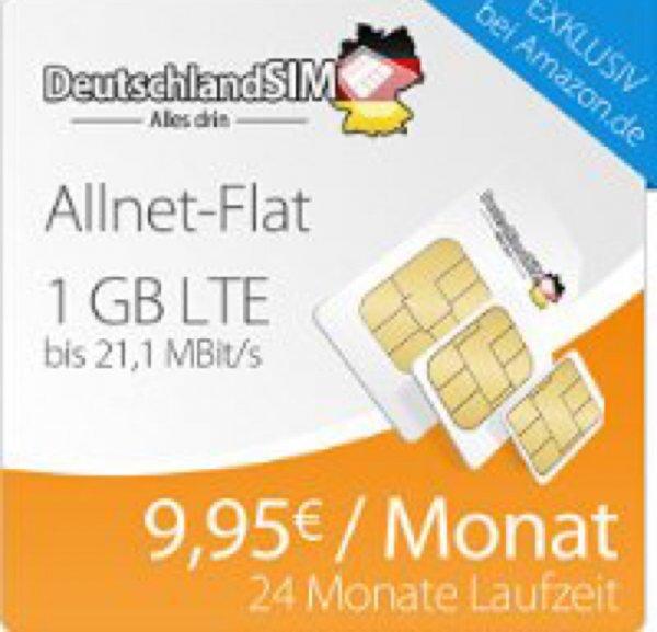 Deutschlandsim o2 LTE Allnet Flat + 1GB 9,95/ Monat @Amazon Blitzdeals ab 9:30h