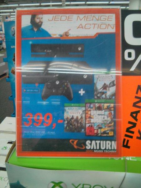 [lokal Darmstadt] Xbox One MIT Kinect Assassin's Creed-Bundle plus GTA 5