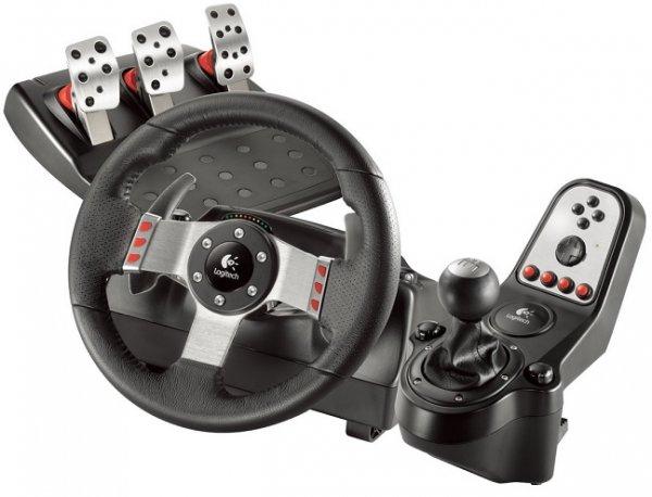 Logitech G27 Lenkrad (PS3/PC) mit 6-Gang-Schaltung und Rückwärtsgang sowie Brems- und Kupplungspedale für 185€