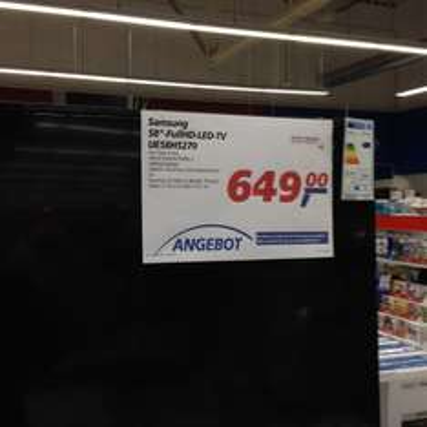"Samsung 58"" Full HD LED UE58H5270 @Real Bexbach (evtl. Bundesweit?!)"