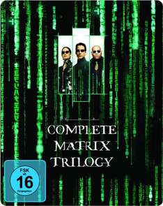 Matrix Trilogy Steelbook [Blu-ray] für 14,97€ @Amazon.de (Prime)