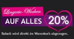20 % auf alles - Lascana - gültig bis zum 1.12.2014 - auch auf Sale - Dessous, Unterwäsche, Bademode & Bikini