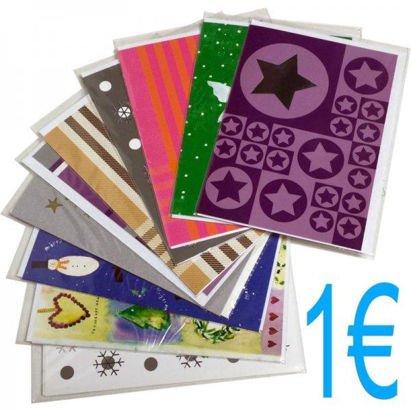 10 Weihnachtskarten mit Umschlag für 1 € +kostenlosen Versand