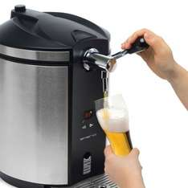 Bierzapfanlage Zapfanlage mit Kühlung für 5L Fässer Edelstahl Emerio BT-10003 @ebay