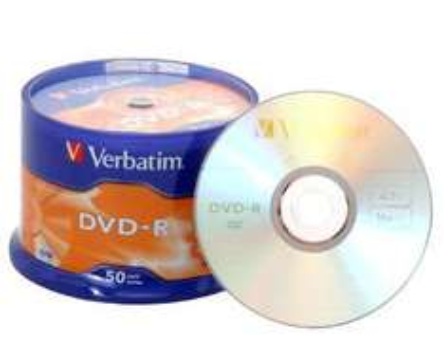 50x Verbatim DVD Rohlinge: DVD-R 4.7 GB