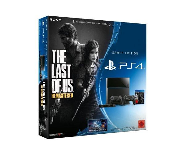 PlayStation 4 inkl. Last of Us, 2. Controller und Kamera für 399€ inkl bei Amazon