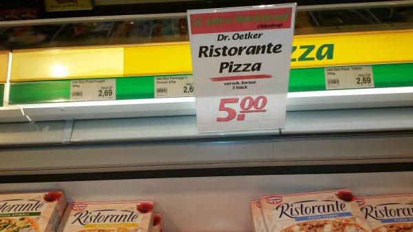 [lokal Bielefeld] 3 Ristorante Pizzen nach Wahl für 5€ - 25? Jahre Marktkauf Oldentrup - 38% Ersparnis