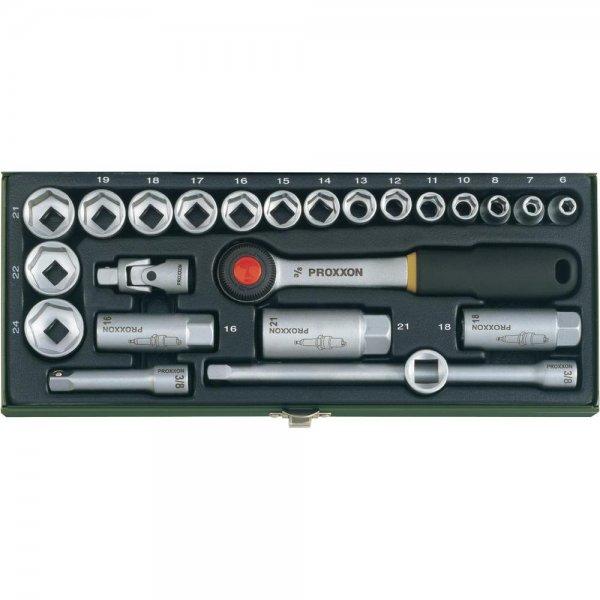 """Proxxon™ - 24-tlg. Steckschlüsselsatz """"23110"""" (3/8"""") für €20,99 [@Conrad.de]"""