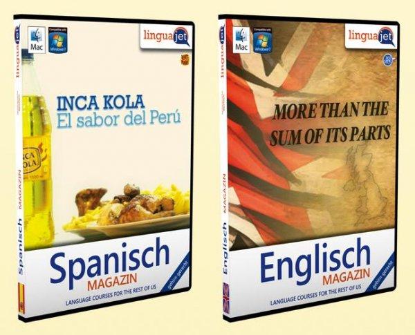 Englisch & Spanisch Sprachkurs für PC/Mac auf CD - Kostenlos