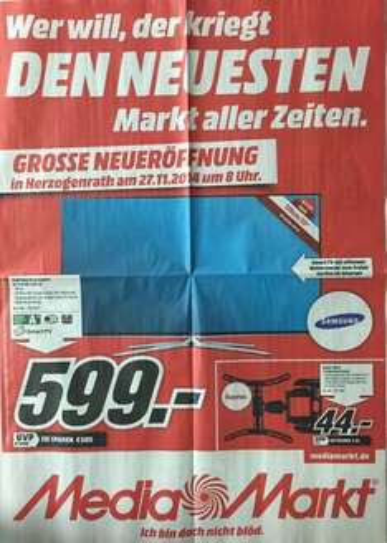 Samsung UE 55 H 6270 599€ Media Markt Herzogenrath