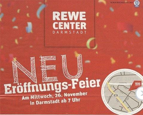 Lokal(Darmstadt): Rewe-Center Neueröffnungsangebote