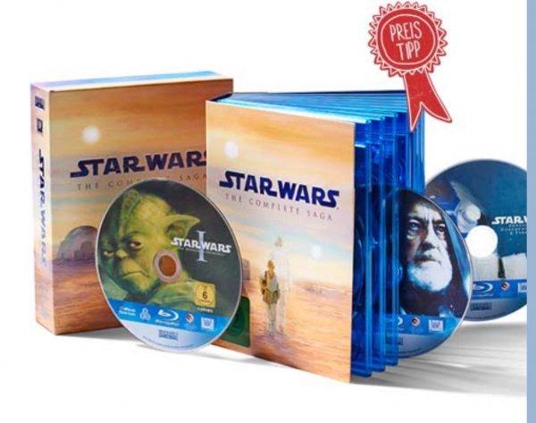 Star Wars - Complete Saga auf BluRay für 69,95 €