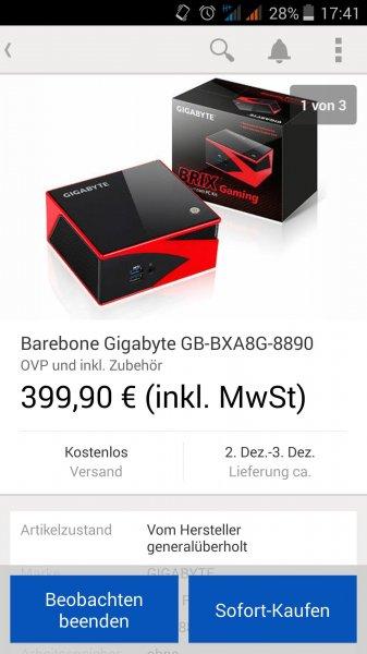 [@ ebay.de] Barebone Gigabyte GB-BXA8G-8890 für 399€