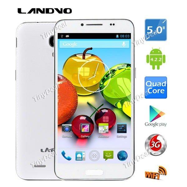 Landvo L800S (Kitkat, 1GB, Quad-Core 1,2 GHZ, Dual-SIM, kein LTE, 5 Zoll) für 50 EUR [ebay]