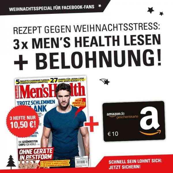 3x Mens Health im Miniabo für 0,50 EUR