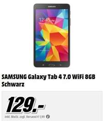 [MediaMarkt] Samsung Galaxy Tab 4 7.0 WiFi s/w