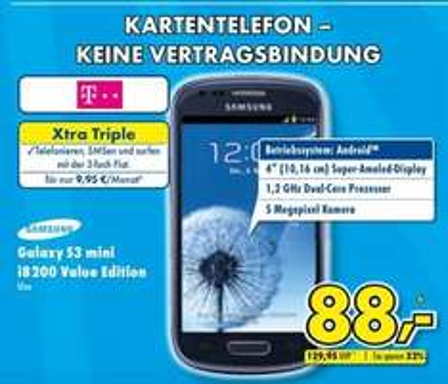 [Euronics XXL Gütersloh] Samsung Galaxy S3 mini VE 88 € - Galaxy Tab 4 10.1 189 €