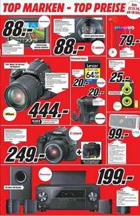 1200D Media Markt München und Umgebung Neueröffnung MM Euro und Fototasche Cullmann Action 300, Lexar 64 GB, Ixus 155, D5100 + 18-105