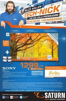 SONY KD-55X8505 BBAEP 1.299EUR im Saturn Köln Maybachstraße UHD / 4K / TriluminosDisplay / TWIN-Triple HDtuner / 3D passiv / SmartTV / WebCam u.v.m.