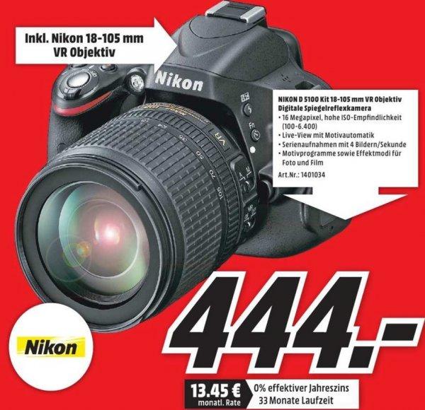 [lokal München] NIKON D 5100+AF-S DX 18-105mm VR für 444€ @ Media Markt