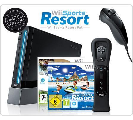 Nintendo Wii Sports Resort Bundle black, ebay WOW via redcoon