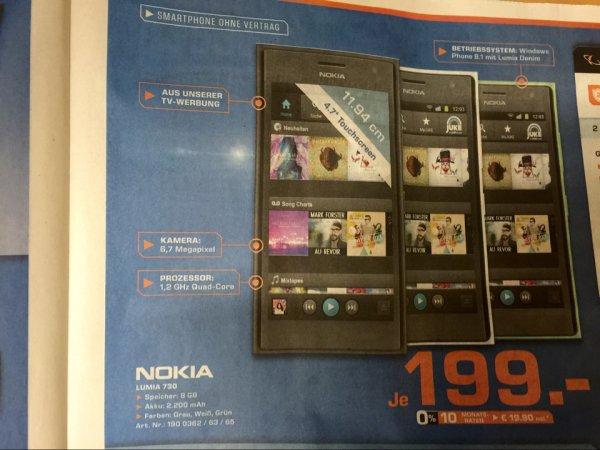 [Lokal] MA&HD Nokia Lumia 730 für 199 Euro