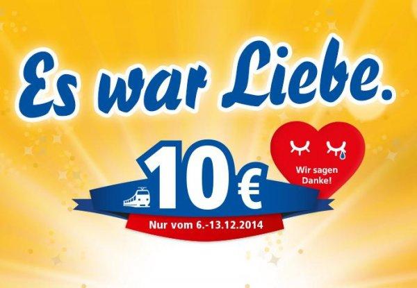 Interconnex: ab 6.12. Abschiedsfahrten für 10€ (Rostock - Berlin - Leipzig)