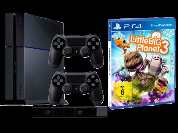 SONY PlayStation 4 Konsole schwarz + 2. Controller + PS4-Kamera + LittleBigPlanet 3 - 449€