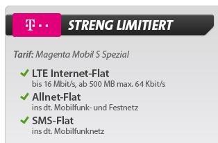Telekom Tarif Magenta Mobil S Spezial