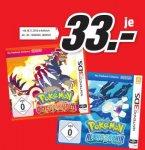 [Lokal MM Meerane] Pokémon Alpha Saphir / Pokémon Omega Rubin für Nintendo 3DS je 33€