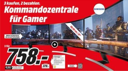 [MM Dortmund] 3 für 2 - Samsung S27D590C Curved FullHD Monitore