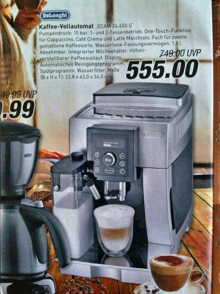 """DeLonghi """"ECAM 24.450.S"""" Kaffee-Vollautomat ab Montag 01.12. bei Marktkauf Münster (lokal) für 555,- €"""