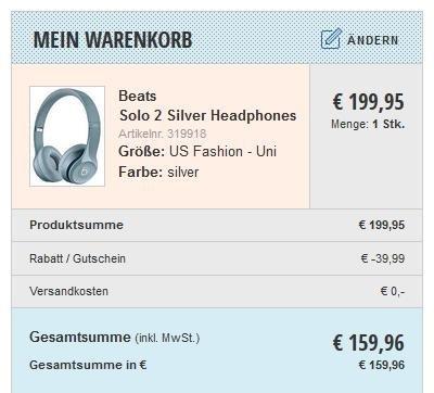 Beats Dr. Dre Solo2 in versch. Farben für 159,96 € (keine VSK) @Blue Tomato Black Friday Sale