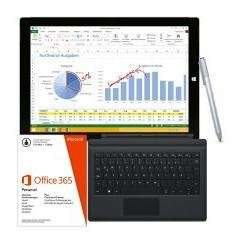 Cyberport Sale Microsoft Surface Pro 3 Tablet i5 256 GB +Office Personal +Type Cover 3 schwarz