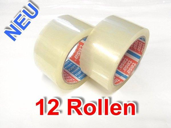 12 Rollen Paketband original Tesa (leise abrollend) für 1,25€ pro Stück