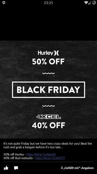 magicseaweed.com shop / 50% auf hurley & 40% xcel wetsuits - Surf-Shop - Black Friday