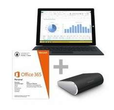 Comtech Microsoft Surface 3 Pro 256 GB Tablet PC mit Core™ i5 + Type Cover Pro 3 + Office 365 + Wedge Maus
