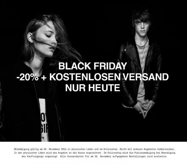 Black Friday Pull & Bear -20% + Kostenloser Versand - nur heute 28.11.