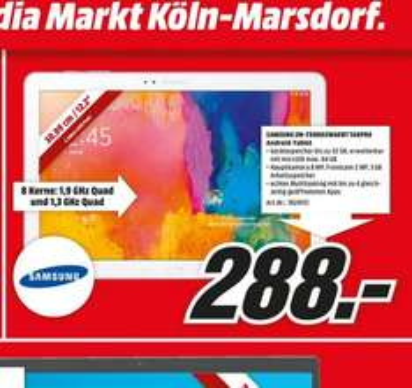 Samsung Galaxy Tab Pro 12.2 32GB WiFi für 288€,Bose Solo TV Sound System für 250€,Little Big Planet 3 (PS4) für 29€ LOKAL @ Mediamarkt Köln Marsdorf